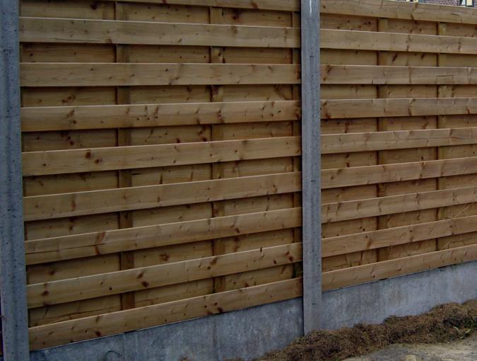 houten tuinscherm