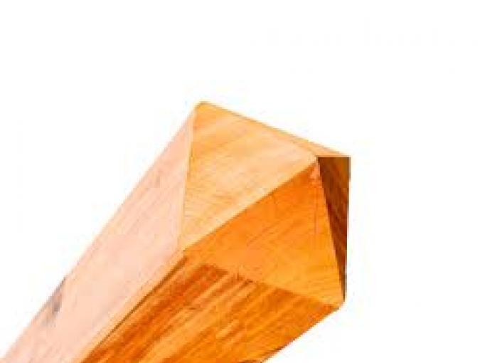 houten poortpaal