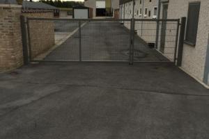 poort  met vast draadpaneel
