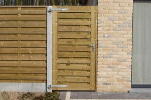 """enkel houten poort """"Elegant"""" den"""